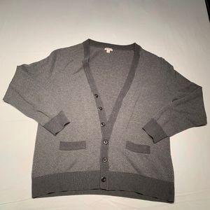 grey chevron stripped cardigan